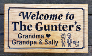 Welcome To The Gunters House Sign FONT: LATIENNE & ARIAL ROUNDED