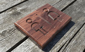 Solid Walnut Rectangular Hospitalities Wooden Plaque Sign, Hotels, Restaurant, Guest House