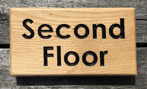 Bramble Signs Second Floor Solid Oak Hospitality Sign for Hotels, Bed and Breakfasts, Restaurants and Holiday Cottages