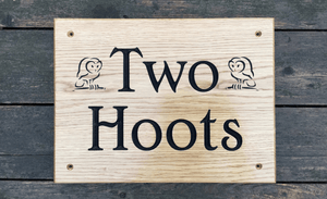 Two Hoots Owl 400x300 House Sign