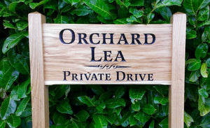 Medium Ladder Sign orchard lea private drive and a scroll