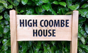 Medium Ladder Sign with a bold engaving of high coome house