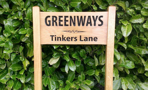 Medium Ladder Sign greenways tinkers lane and a scroll engraving