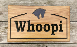 Stable Sign - Large - 380 x 220mm - Bramble Signs Engraved Wall Mounted & Freestanding Oak House Signs, Plaques, Nameplates and Wooden Gifts