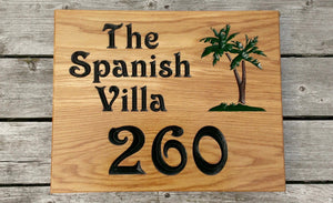 House Sign - Extra Large Square - 500 x 400mm - Bramble Signs Engraved Wall Mounted & Freestanding Oak House Signs, Plaques, Nameplates and Wooden Gifts FONT: VICTORIAN