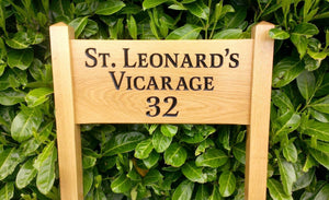Medium Ladder Sign st leonards vicarage and number 32