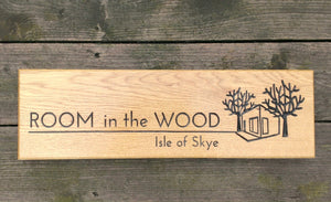 Room In the Wood Hotel Sign 500x110