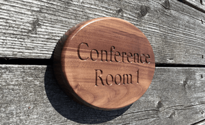 Conference Room Sign mounted with Secure Hidden Fixings