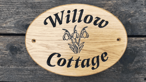 Willow Cottage Oval House sign