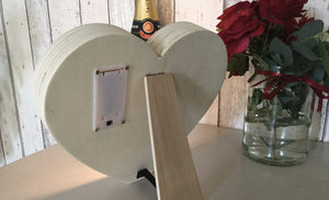 Rear Side Of Heart Shaped Light Box With Battery Box Portable