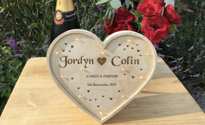 Heart Shaped Light Box For Special Wedding Days