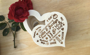 Heart Shaped Ring Box Symbol Of Love Ring Holder