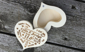 Heart Shaped Ring Box To Display The Ring