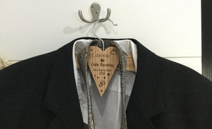 Grooms Personalised Coat Hangers For Displaying Suit