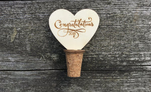 Congratulations Bottle Stopper Cork Handmade For Keeping Wine Fresh