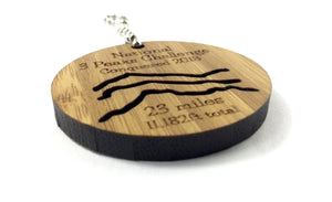 National 3 Peaks Solid Bamboo Mountain Conquerer Keyring
