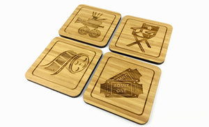 Bamboo Drinks Coasters Film Maker & Producers Set