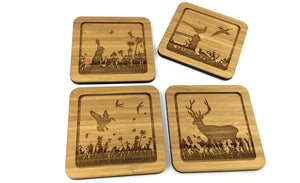 Four Drinks Coasters With Nature Reserve Designs