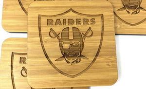 Raiders American Football Team Drinks Coasters