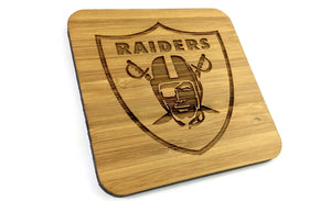 Side Shot of Solid Bamboo Eco Friendly Drinks Coasters