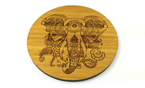 Mandala Elephant Drinks Coasters