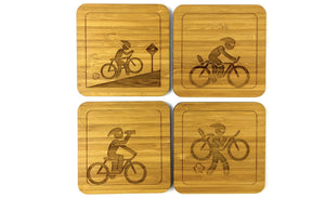 Sustainable Durable Bamboo Drinks Coasters