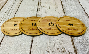 Bamboo Drinks Coasters Set Perfect For home movie theatres to relax