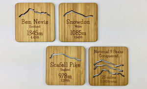 National Three Peaks Tea & Coffee Drinks Coasters Ideal Gift For Adventurous family or friends