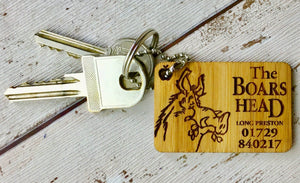 Corporate Personalised Bamboo Key-rings