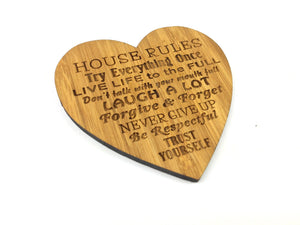 House Rules Sustainable Bamboo Drinks Coasters