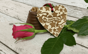 Valentine Wooden Hanging Heart Decorations