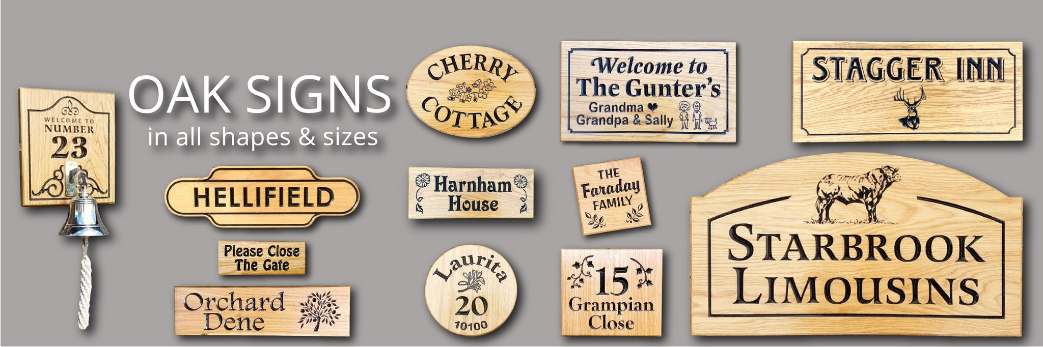 Shaped House Signs Nameplates and Plaques