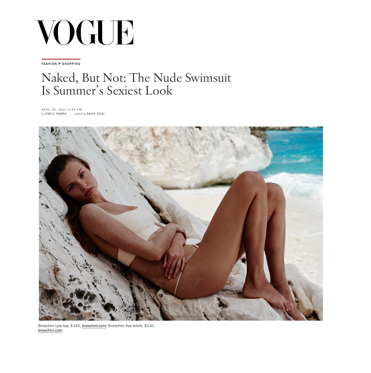 Broochini Vogue US swimwear
