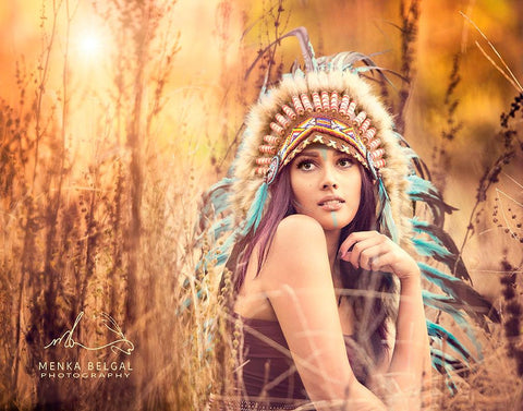 Menka Bengal Headdress Photo Shoot