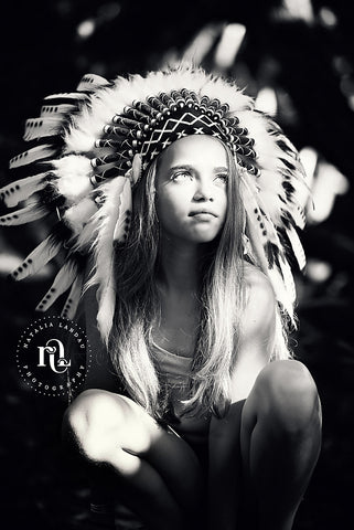 Natalia Landau Kids Indian Headdress Photo Shoot