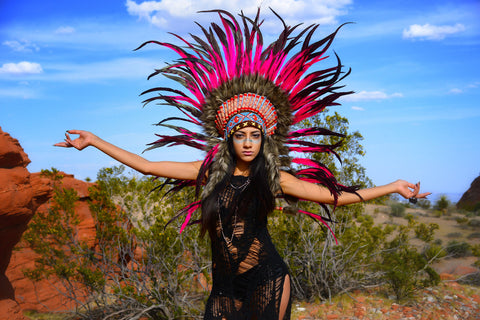 Scott Boden Indian photo shoot Nevada Desert