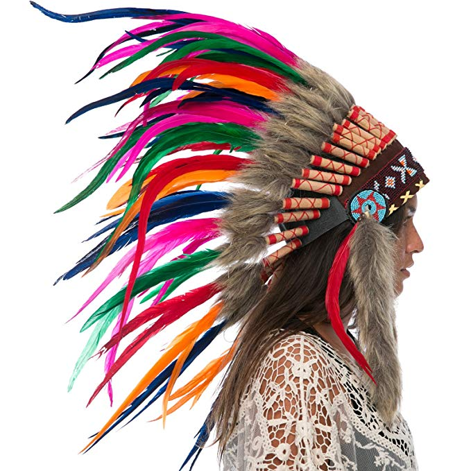 Indian Headdress Replica - Rainbow Rooster - CLEARANCE!
