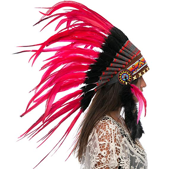 Indian Headdress Replica - Red Rooster - CLEARANCE!
