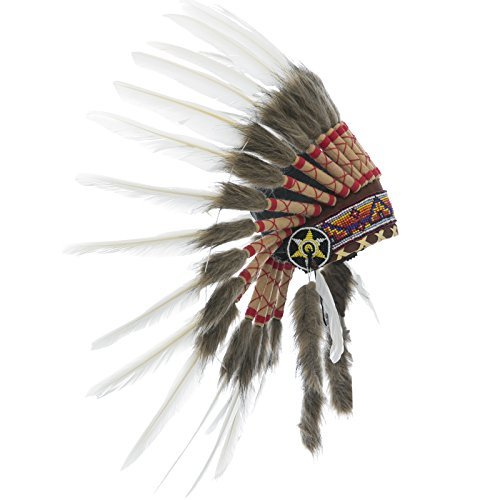 Kids Indian Headdress Replica - Short Classic White Duck