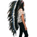 Extra Long Double Feather Blue Indian Headdress Replica