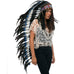 Extra Long Double Feather Blue Native American Headdress Replica