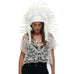 Extra Long Feather Headdress with All White Duck Feathers