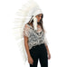 Extra Long Native American Headdress Replica with All White Duck Feathers