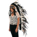 Extra Long Native American Headdress Replica with Natural Color Rooster Feathers