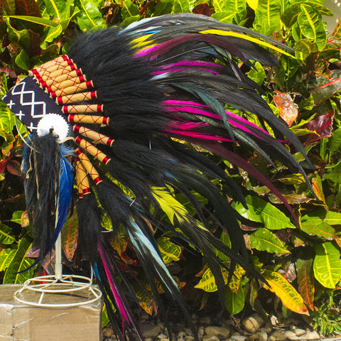 Kids Native American Headdress Replica - Electric