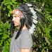 double feather indian headdress, made by balinese artisans