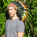 short multicolor native american style headdress, made by balinese artisans
