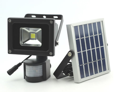 10W LED Solar Security Flood Light with PIR Sensor