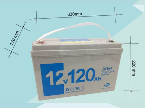 12V 120AH AGM Deep Cycle Rechargeable Battery