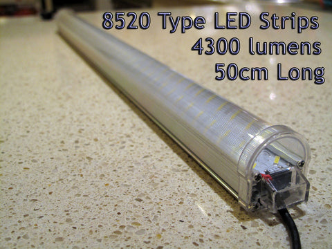 12V Double 8520 Type Rigid LED Light Strips 50cm Long